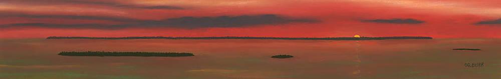 Chambers Island Sunset by George Burr