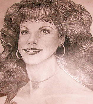 Anne-Elizabeth Whiteway - Charcoal Drawing of Me by Leif Thor Kvammen