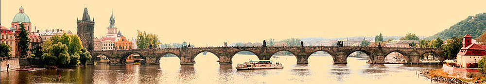 Charles Bridge Pano by Michael Fahey
