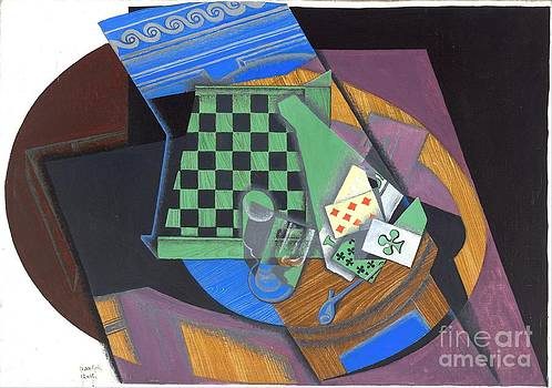 Roberto Prusso - Checkerboard and playing cards