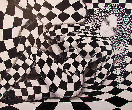 Checkered Girl by Kevin Escobar