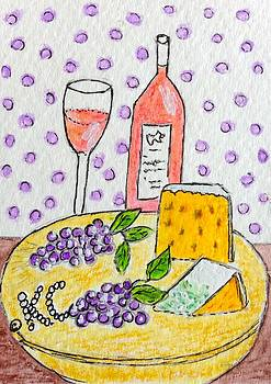 Cheese and Wine by Kathy Marrs Chandler