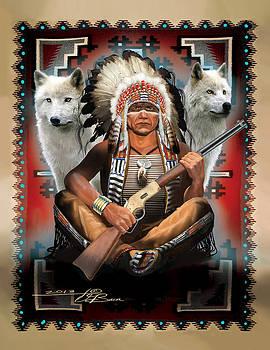 Cheif sitting Wolf by  Orlando Baca