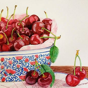 Cherries in my favorite bowl by Sonali Sengupta