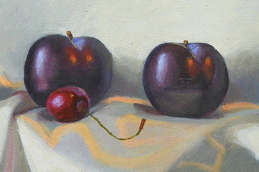 Cherry and plums by Peter Orrock