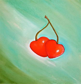 Cherry hearts by Heather Matthews