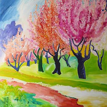 Cherry Trees in Flower by Blanche Serban