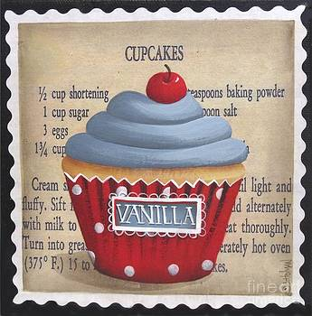 Cherry Vanilla Cupcake by Catherine Holman