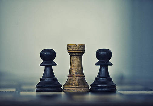 Chess pieces three by Arisha Singh