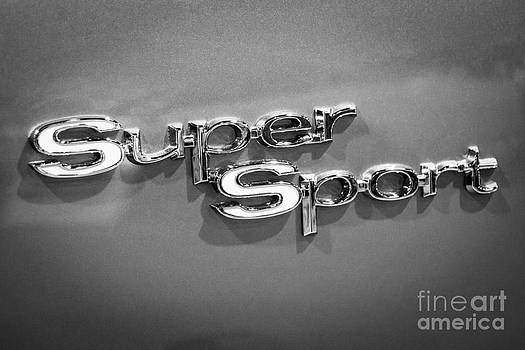 Paul Velgos - Chevy Super Sport Emblem Black and White Picture