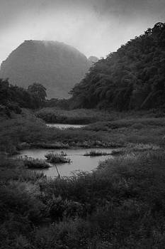 Chiang Rai mountainscape in Black and White by Duane Bigsby
