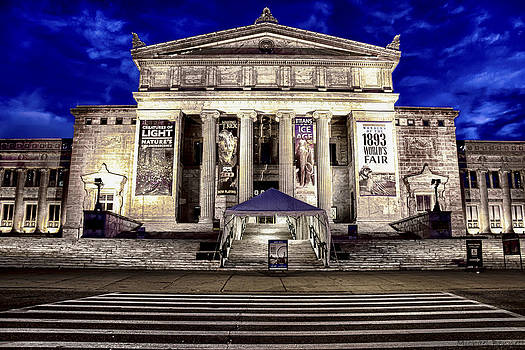 Chicago Field Museum Blue Hour by Michael  Bennett