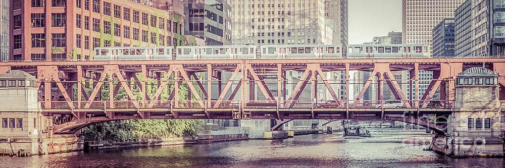 Paul Velgos - Chicago Lake Street Bridge L Train Retro Picture