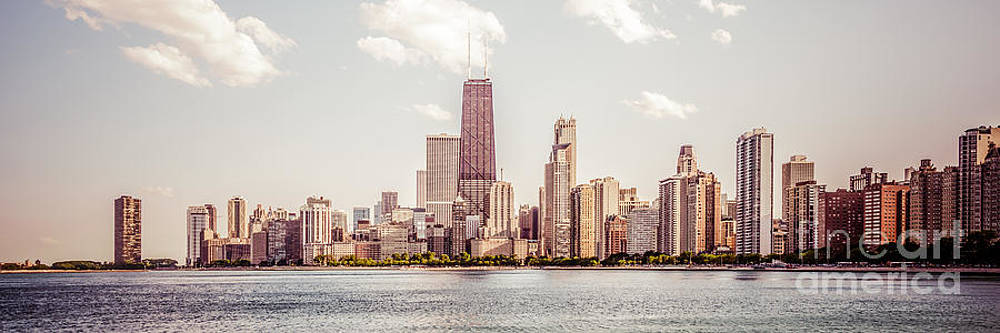 Paul Velgos - Chicago Panorama Retro Photo