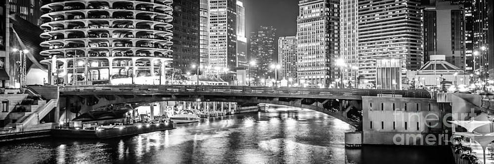 Paul Velgos - Chicago River Dearborn Street Bridge Panorama Photo