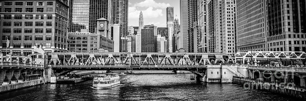Paul Velgos - Chicago River Panorama Black and White Picture