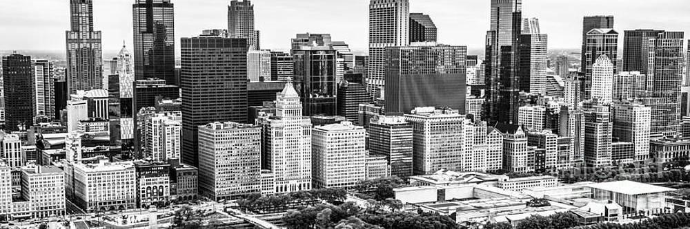 Paul Velgos - Chicago Skyline Aerial Panorama Photo