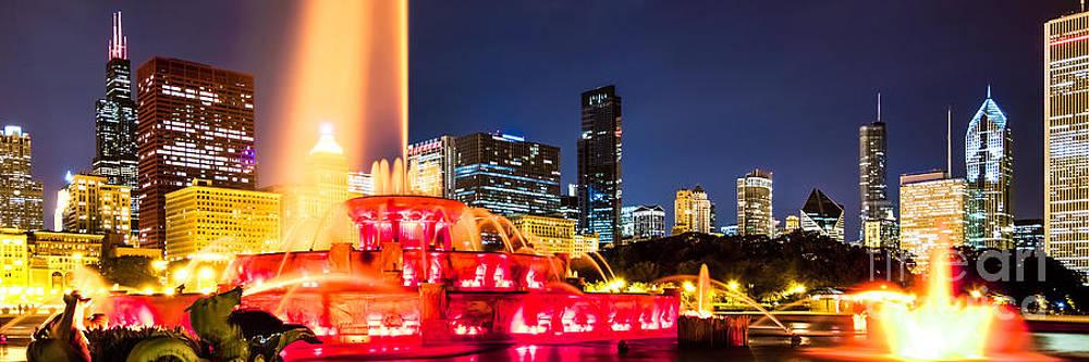 Paul Velgos - Chicago Skyline at Night Panorama Photo