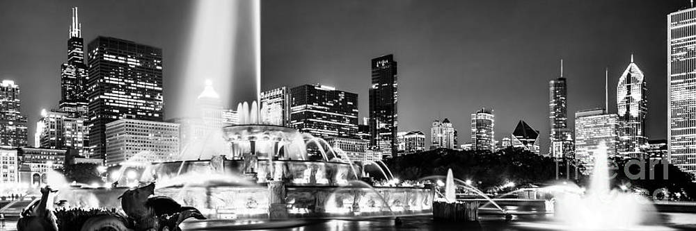 Paul Velgos - Chicago Skyline at Night Panoramic Picture