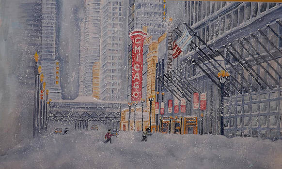 Chicago Snow by Ragon Steele