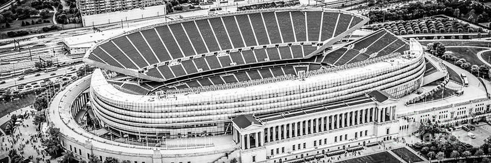 Paul Velgos - Chicago Soldier Field Aerial Panorama Photo