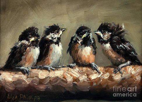 Chickadee Chicks by Lisa Phillips Owens