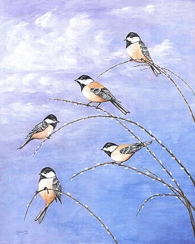 Chickadees by Carl Genovese