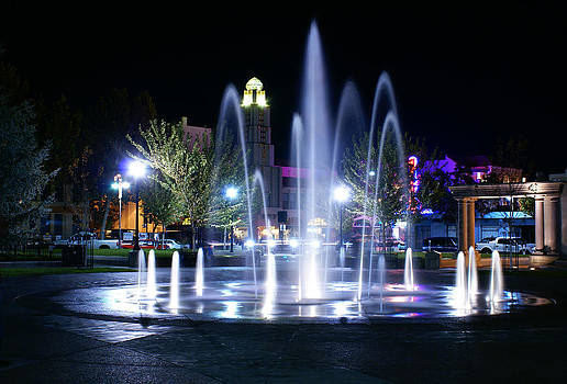 Chico City Plaza at Night by Abram House
