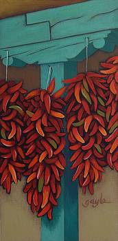 Chile Ristras by Gayle Faucette Wisbon