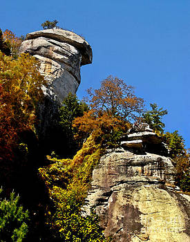 Jeff McJunkin - Chimney Rock Watercolor