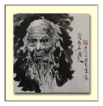 Chinese artist Qi Baishi by  Richard Xiaochuan Li