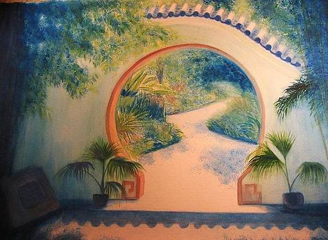 Chinese Garden Gate by Carol Oberg Riley