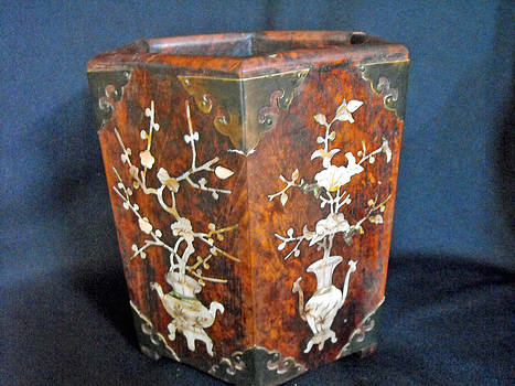Chinese scholar's brush container by Anonymous