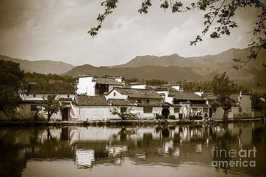 Chinese village by Fototrav Print