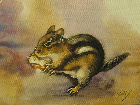 Alfred Ng - chipmunk in autumn