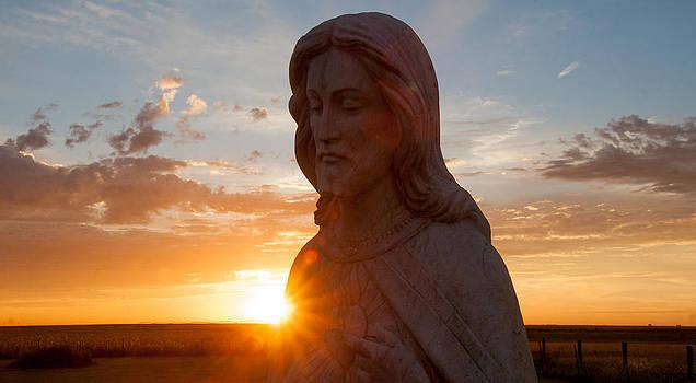 Christ and sun by Shirley Heier