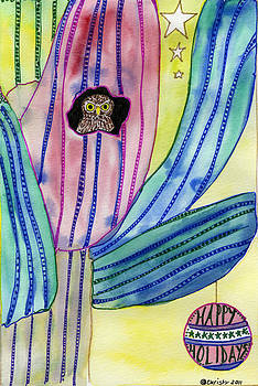 Christmas cactus by Christy Woodland