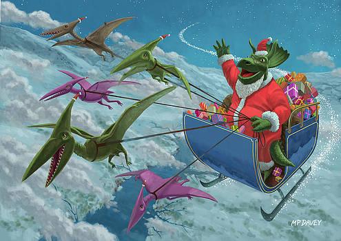 Martin Davey - Christmas Dinosaur Santa ride