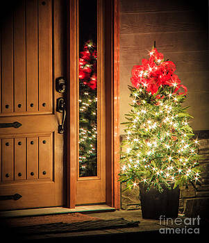 Christmas Door by Nancy Harrison