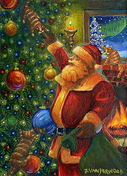 Christmas Eve Santa by Jacquelin Vanderwood