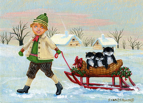 Christmas Sledding by Jacquelin Vanderwood