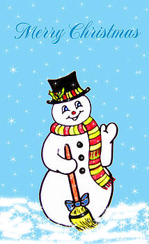 Christmas Snowman by Susan Turner Soulis