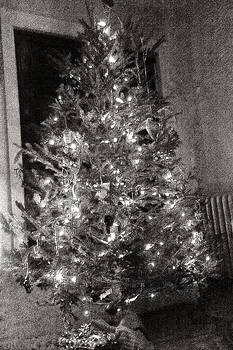 Christmas Tree Memories Monochrome by Carol Whaley Addassi