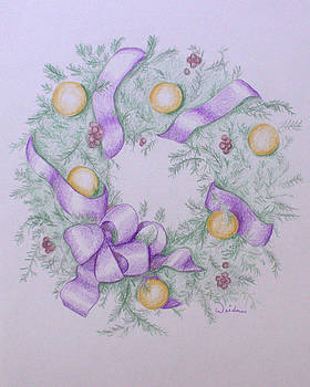 Christmas Wreath by Kathy Weidner