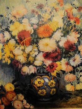 Chrysanthemums by Gudrun Hirsche