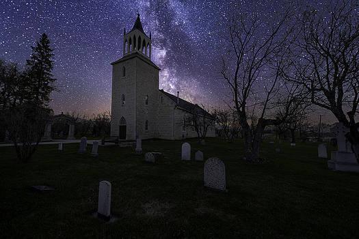 Church at night by Nebojsa Novakovic