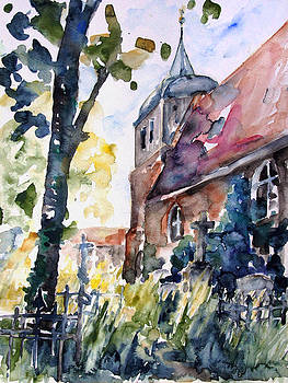 Church Cemetery In Buchholz by Barbara Pommerenke