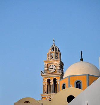 Corinne Rhode - Church dome in Santorini