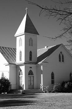 Church in Black and White by Carolyn Ricks