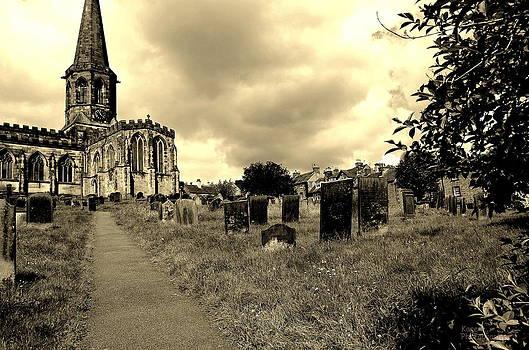 Church on a hill by Karen Kersey